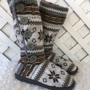 Muk luks knit sweater boots